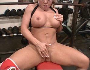 Wende loves going to the gym and seeing the progress in her budding muscles. She spends so much time working her biceps, glutes, and legs that she get comfortable and forgets where she is. She barely thinks about it when she removes her panties and begins playing with her big clit. We are so glad that Wende loves the gym.