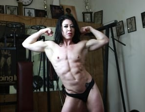 Help us welcome muscular pornstar Carmin Blue to the Female Muscle Network. Carmin is a power packed, sexy, and vascular woman. We brought her into the gym not knowing what to expect - what we got was much more than we expected. Her ripped abs, powerful biceps, sexy tattoos, and big clit are spot on perfect. Look for more content from Carmin very soon.