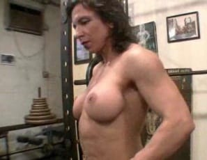 Feel these quads, sexy Alexis demands in this video as she finishes a set of leg curls and poses to show her leg muscles. Then she does squats and leg presses nude and taunts you while you're looking at her big clit. Bet you wish you could touch it, don't you? she asks as she masturbates in extreme closeup.